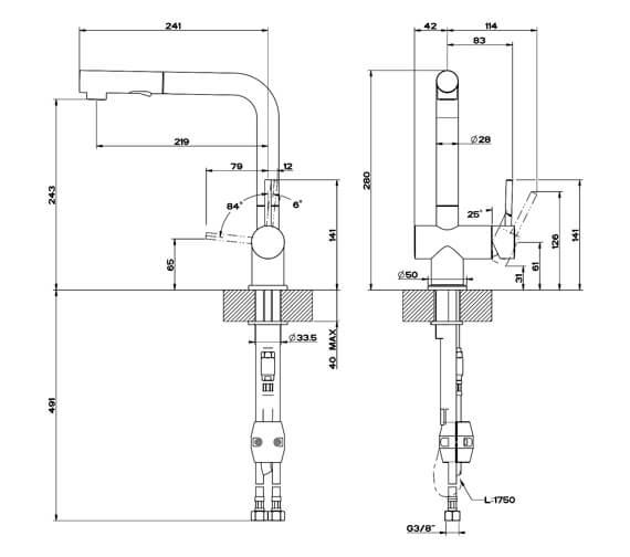 Technical drawing QS-V89517 / 50203031