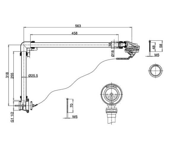 Technical drawing QS-V105962 / W4