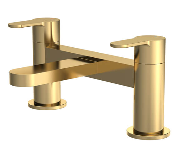 Additional image of Nuie Arvan Deck Mounted Dual Lever Bath Filler Tap