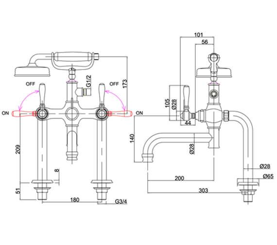 Technical drawing QS-V105896 / ARC2018CHR