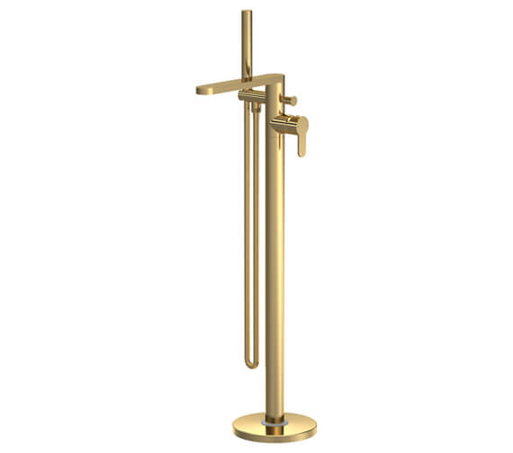 Additional image of Nuie Arvan Floor Standing Bath Shower Mixer Tap With Kit