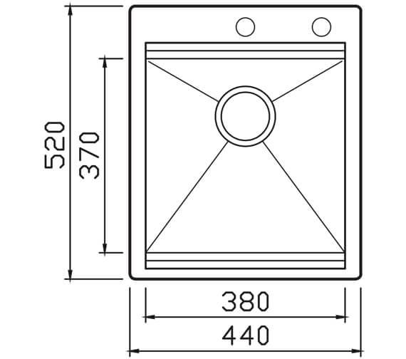 Technical drawing QS-V104621 / UCS001