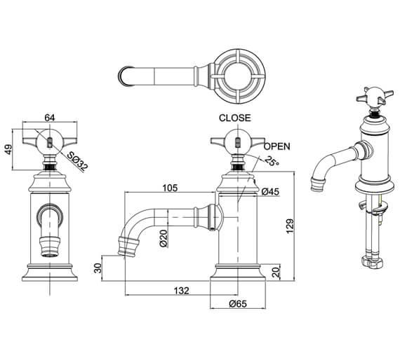 Technical drawing QS-V105897 / ARC2012CHR