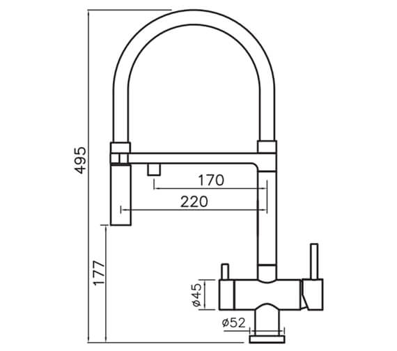 Technical drawing QS-V104617 / BE4CP