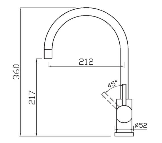 Technical drawing QS-V104618 / COS2CP