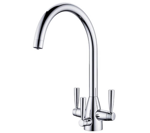 Clearwater Eclipse Tri-Spa C- Swivel Spout Kitchen Sink Mixer Tap With Cold Filter