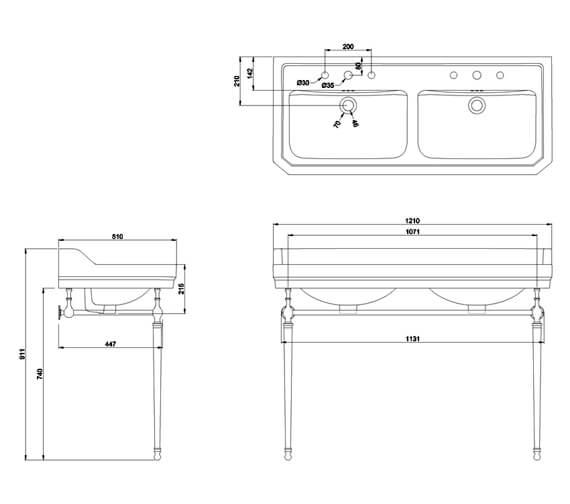 Technical drawing QS-V105978 / B211TH