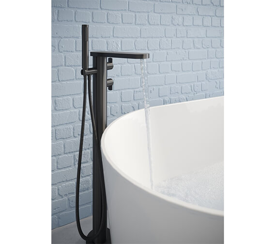 Additional image of Crosswater Wisp Floor Standing Thermostatic Bath Shower Mixer Tap With Kit