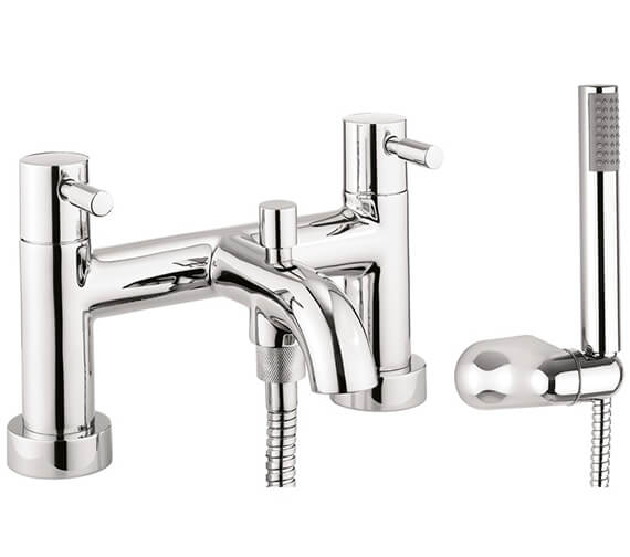 Crosswater Heaven Dual Lever Deck Mounted Bath Shower Mixer Tap With Kit