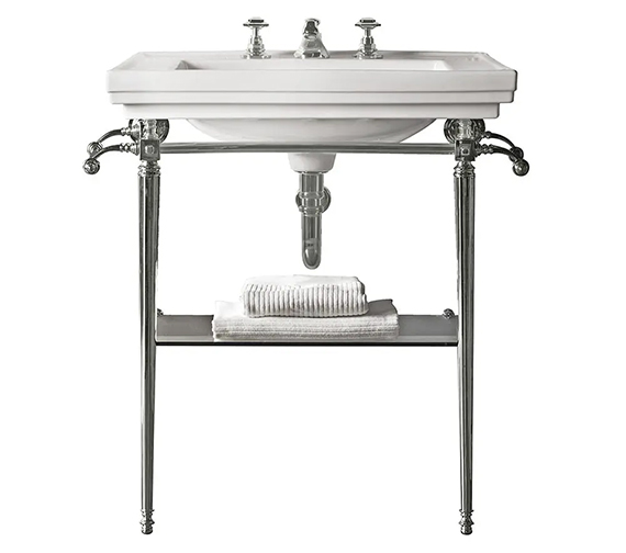 Additional image of Imperial Astoria Deco Large Stand With Towel Rack And 640mm Basin