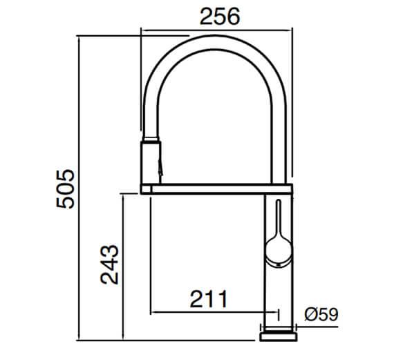 Technical drawing QS-V104635 / GAL20CP