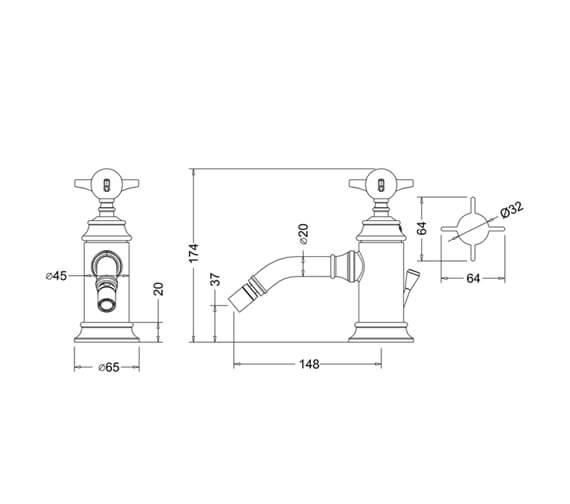 Technical drawing QS-V105898 / ARC2013CHR
