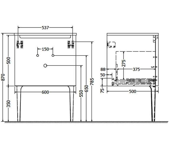 Technical drawing QS-V104628 / ART6000DWM
