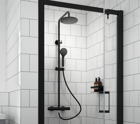 Additional image of Nuie Arvan Round Thermostatic Bar Valve And Shower Kit