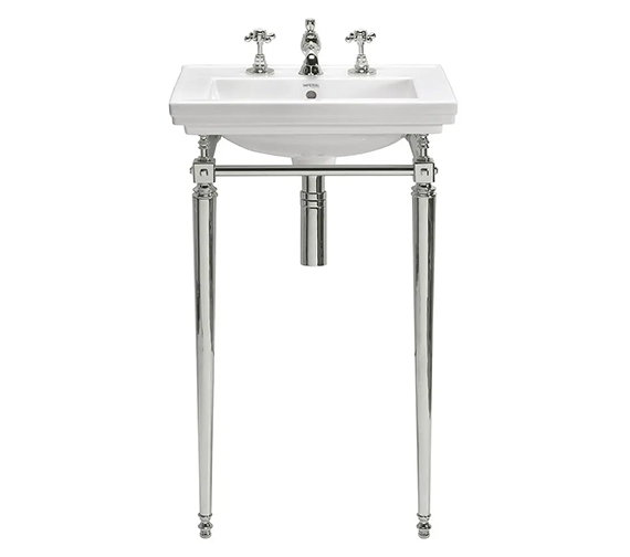 Additional image of Imperial Astoria Deco Small Basin And Stand With Towel Rail