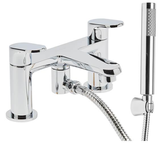 Roper Rhodes Clear Deck Mounted Bath Shower Mixer Tap