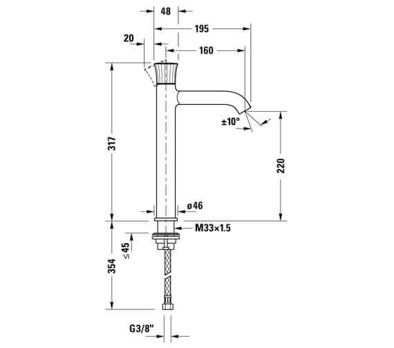 Technical drawing QS-V98202 / WT1010002010