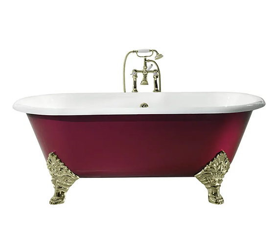 Alternate image of Imperial Roseland 1780mm Cast Iron Bath With Feet - No Tap Hole