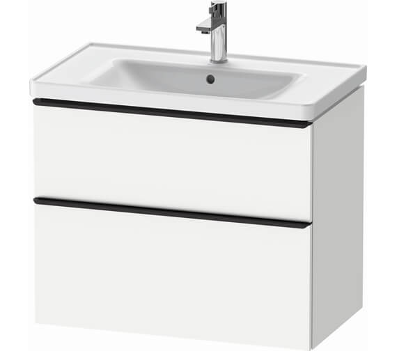 Additional image of Duravit D-Neo 2 Drawer Wall Mounted Vanity Unit For D-Neo Basin