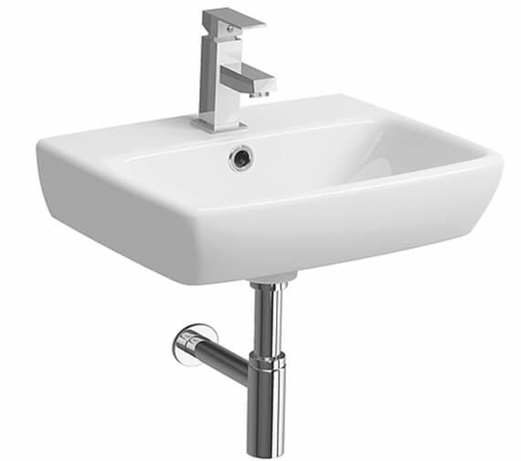 Twyford E100 Square Bathroom Sink 500mm - 1 Tap Hole