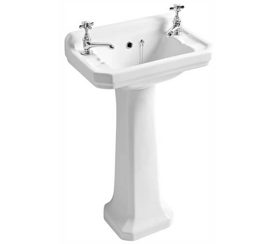 Roper Rhodes Harrow Two Tap Hole Cloakroom Basin And Pedestal