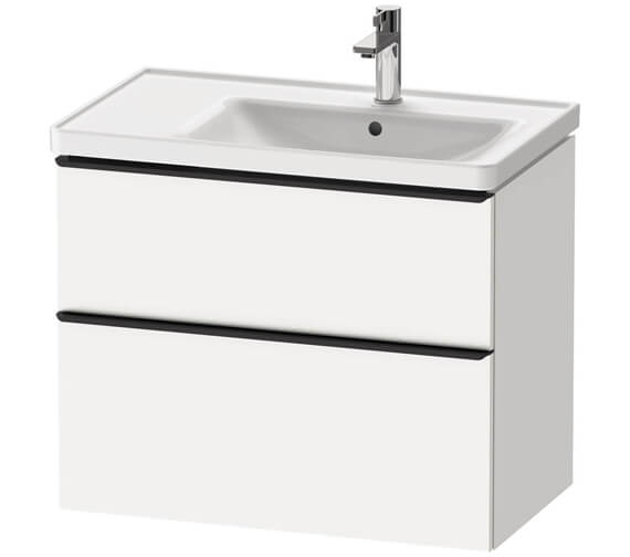Additional image of Duravit D-Neo Two Drawer Wall Mounted Vanity Unit For D-Neo Basin