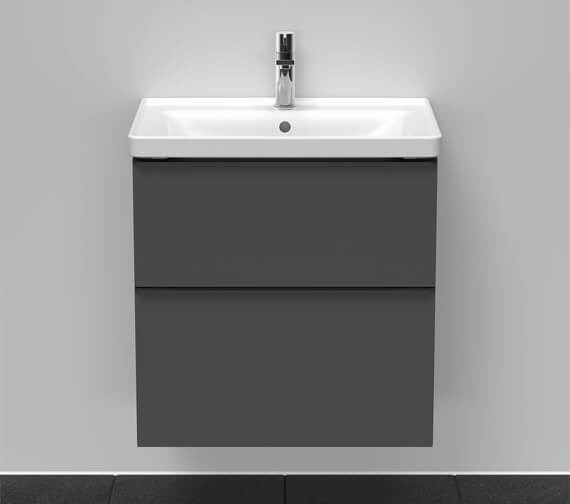 Duravit D-Neo 2 Drawer Wall Mounted Vanity Unit For D-Neo Basin