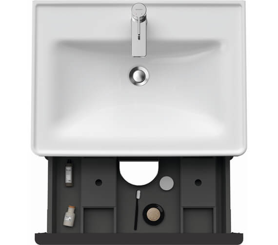 Alternate image of Duravit D-Neo 2 Drawer Wall Mounted Vanity Unit For D-Neo Basin
