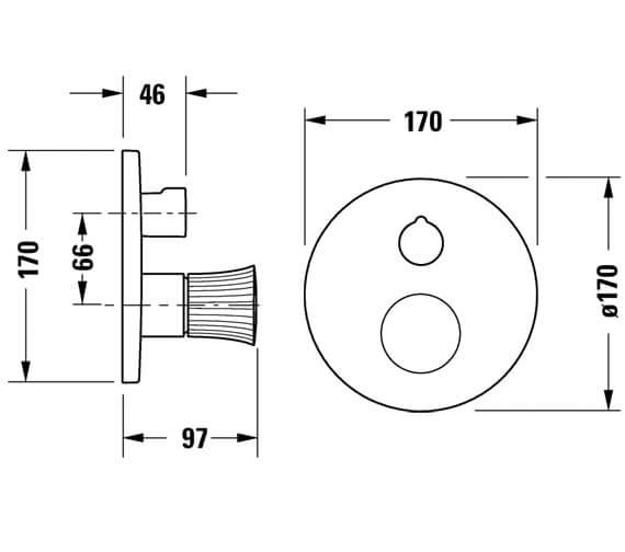 Technical drawing QS-V98206 / WT4210010010
