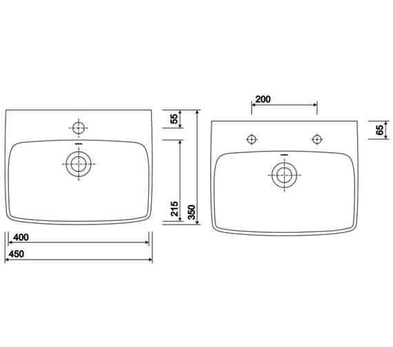 Technical drawing QS-V10714 / E14832WH