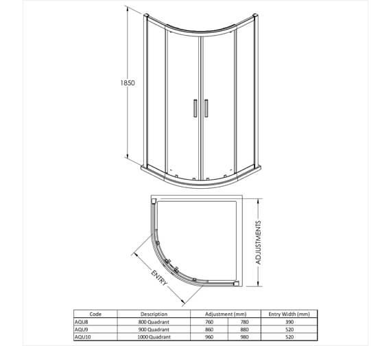 Technical drawing QS-V38836 / AQU8