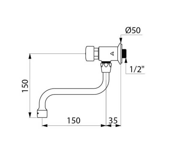 Technical drawing QS-V106081 / 748150