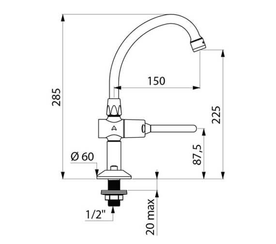 Technical drawing QS-V106083 / 737152