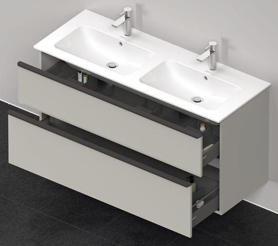 Additional image of Duravit D-Neo 1280mm Wide 2 Drawer Wall Mounted Vanity Unit For Me By Starck Basin