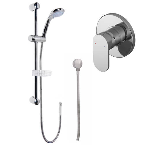 Nuie Binsey Manual Shower Valve With Slide Rail Kit And Elbow