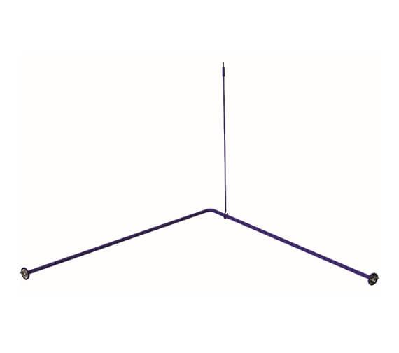 Delabie Doc M 1200mm Angled Curtain Rail