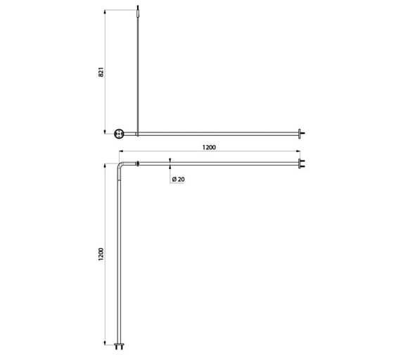Technical drawing QS-V106745 / 4337B