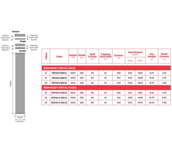 Technical drawing QS-V105621 / M13VWH-S-1800-12