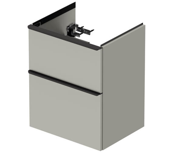 Additional image of Duravit D-Neo 2 Drawer Wall Mounted Vanity Unit For Me By Starck Basin