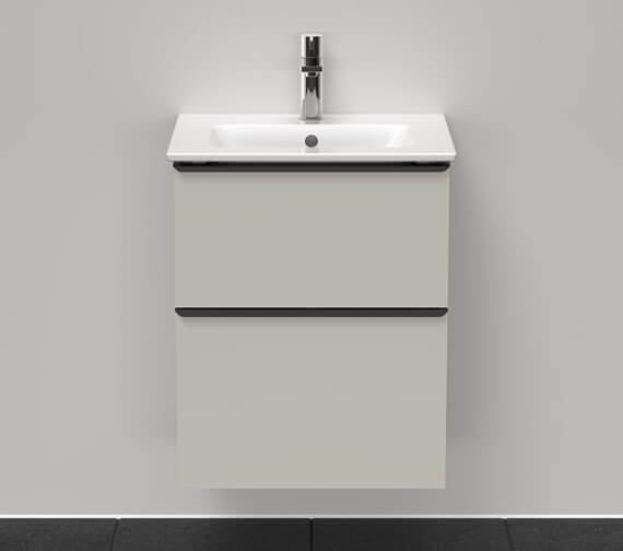 Duravit D-Neo 2 Drawer Wall Mounted Vanity Unit For Me By Starck Basin