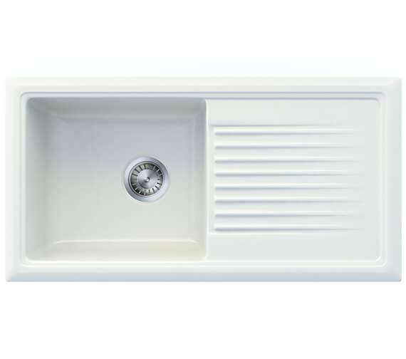Reginox Regi-Ceramic 1010 x 525mm 1.0 Bowl Inset Sink White