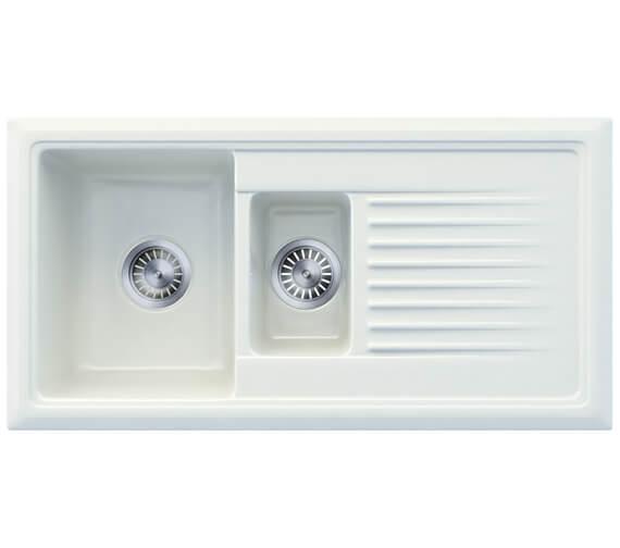Reginox Regi-Ceramic 1010 x 525mm 1.5 Bowl Inset Sink White