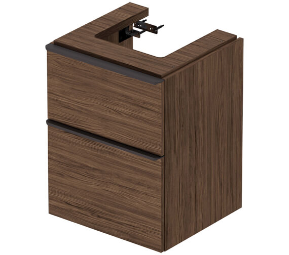 Alternate image of Duravit D-Neo Two Drawer Wall Mounted Vanity Unit For Vero Air Basin