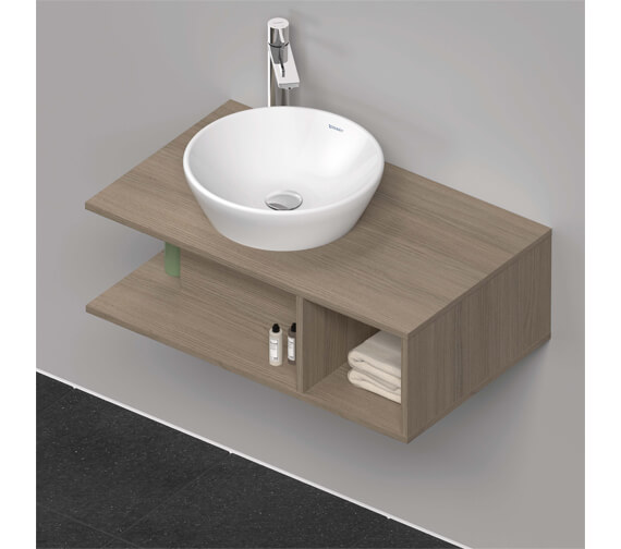 Alternate image of Duravit D-Neo 1 Open Compartment Wall Hung Vanity Unit