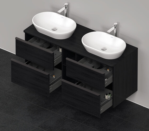 Additional image of Duravit D-Neo 1400mm Wide 4 Drawer Wall Mounted Vanity Unit
