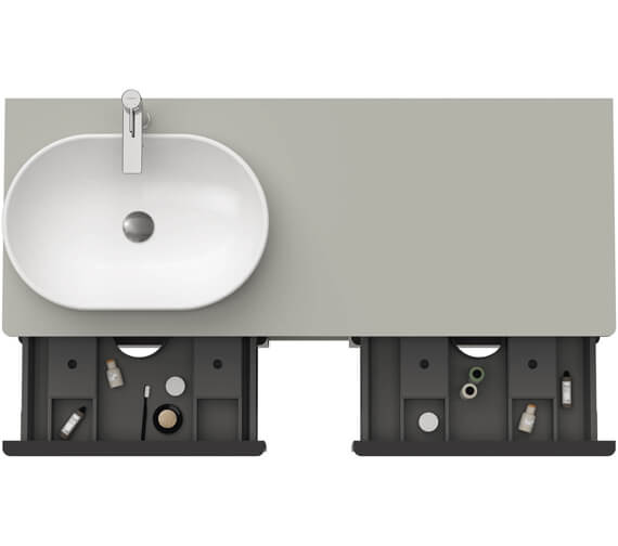 Alternate image of Duravit D-Neo 1400mm Wide 4 Drawer Wall Mounted Vanity Unit