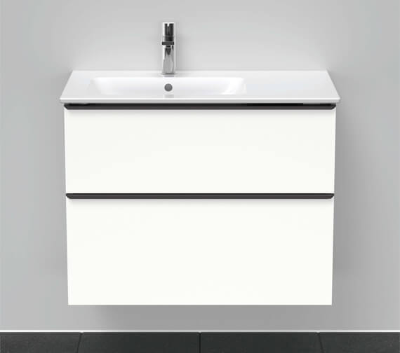 Duravit D-Neo 810mm Wide 2 Drawer Wall Mounted Vanity Unit For Me By Starck Basin