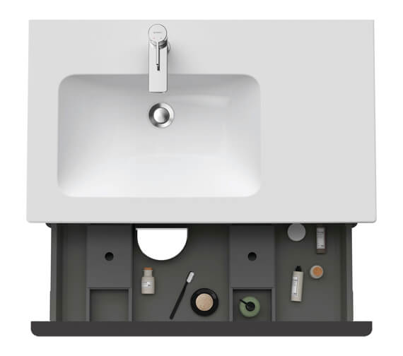 Alternate image of Duravit D-Neo 810mm Wide 2 Drawer Wall Mounted Vanity Unit For Me By Starck Basin