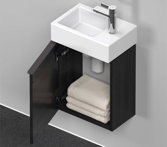 Additional image of Duravit D-Neo 364mm Wide Wall-Mounted Vanity Unit For Vero Air Basin