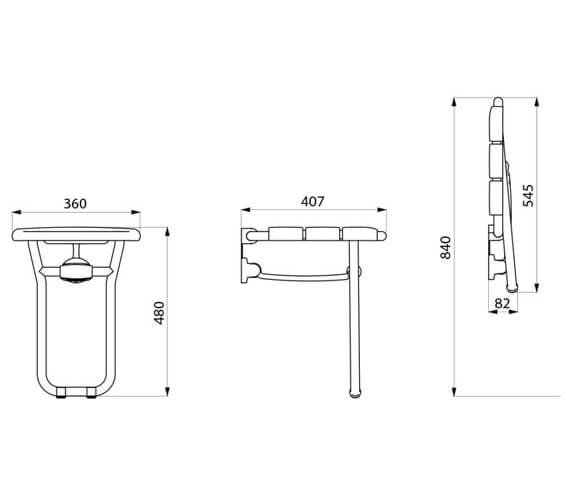 Technical drawing QS-V106751 / 510400